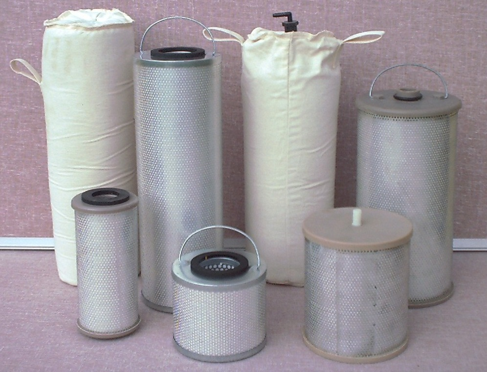Fullers Earth Canisters & Bags for Jet Fuel Treatment, Vacuum Pump Processes, Acid Removal, Solvent Recovery, & Industrial Applications